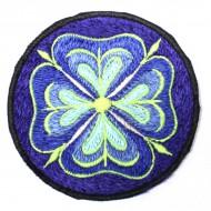 Ecusson à coudre - Fleur Bleue (ecnep1R072)