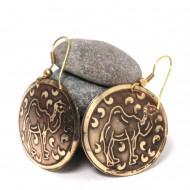 Boucles d'oreilles rondes Indiennes (binea025)