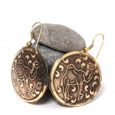 Boucles d'oreilles rondes Indiennes (bineo025)