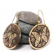 Boucles d'oreilles rondes Indiennes (bineo026)