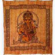 Tenture Ganesh - Tenture Brossée du dieu elephant