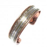 Bracelet en cuivre magnetique contre les rhumatisme