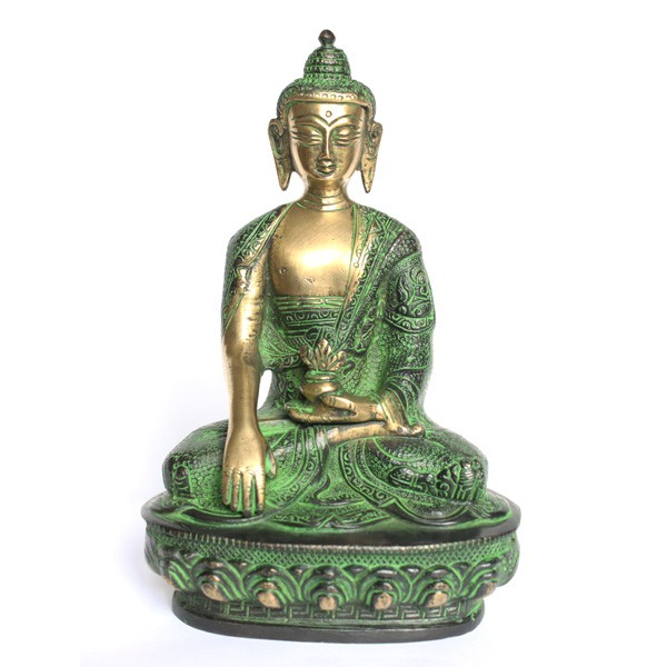 statuette bouddha statuette indienne artisanale en bronze. Black Bedroom Furniture Sets. Home Design Ideas
