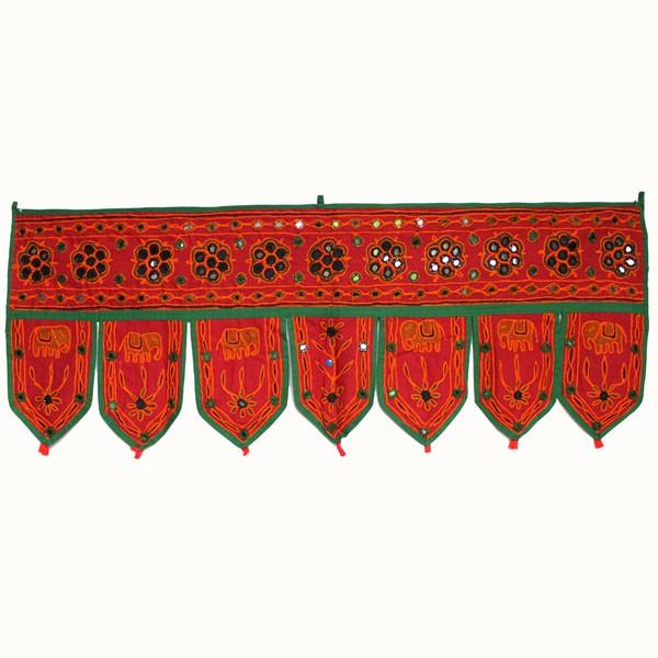 Dessus de porte rouge artisanat indien sur for Decoration porte rouge