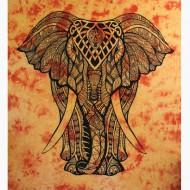 """Tenture Indienne """"Eléphant"""" (tgm176)"""