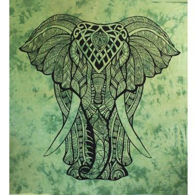 "Tenture Indienne ""Eléphant"" (tgm178v)"