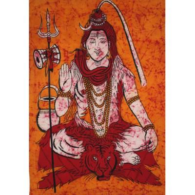 """Tenture Batik - """"Shiva""""(tb09/2sh)"""