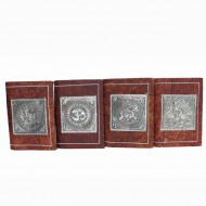 Petit carnet de note indien. Motifs - Om, Ganesh, Elephant, Paon