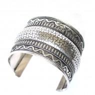 Bracelet Indien - Bracelet en métal blanc (brinmet03L)