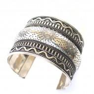 Bracelet Indien - Bracelet en métal blanc (brinmet04L)
