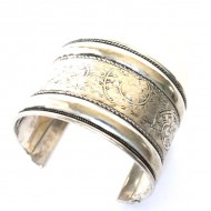 Bracelet Indien - Bracelet en métal blanc (brinmet05L)