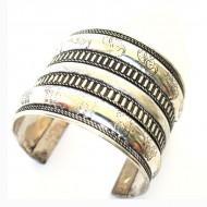 Bracelet Indien - Bracelet en métal blanc (brinmet06L)