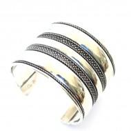 Bracelet Indien - Bracelet en métal blanc (brinmet07L)