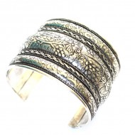 Bracelet Indien - Bracelet en métal blanc (brinmet09L)