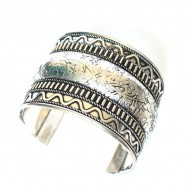 Bracelet Indien - Bracelet en métal blanc (brinmet11L)