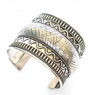 Bracelet Indien - Bracelet en métal blanc (brinmet14L)