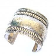 Bracelet Indien - Bracelet en métal blanc (brinmet16L)