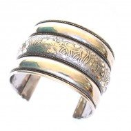 Bracelet Indien - Bracelet en métal blanc (brinmet17L)