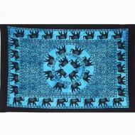 """Tenture Indienne """"Eléphants"""" (tptels02b)"""