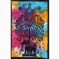 """Tenture Indienne """"Eléphant"""" (tptel02m)"""