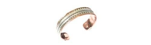 bracelet cuivre et aimants - magnéto-thérapie
