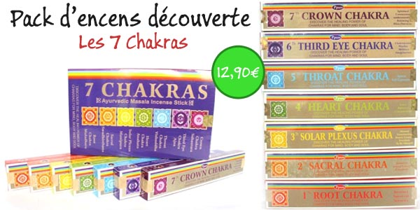 encens indiens 7 chakras