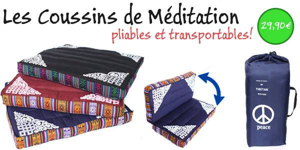 coussins tibetains