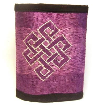 Portefeuille brodé du Népal - Violet (PFBRNEP003)