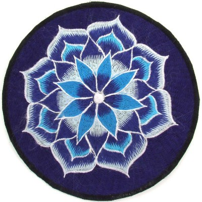 Ecusson Géant Fleur de Lotus - bleu (ecnep5R006)