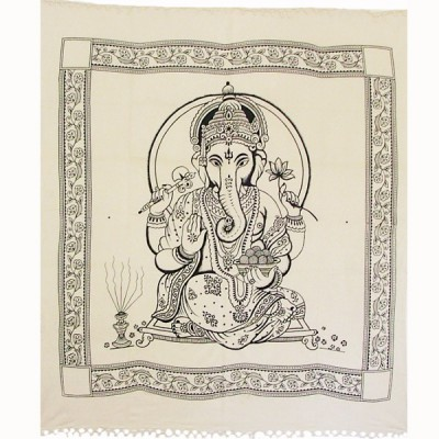 """Tenture Indienne - """"Ganesh"""" (tgm065)"""