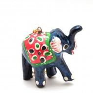 Porte-clefs éléphant - Bleu (PTC002)