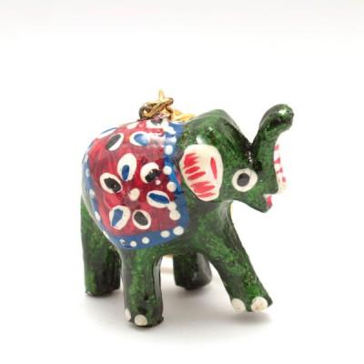 Porte-clefs éléphant - Vert (PTC004)