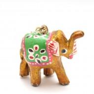 Porte-clefs éléphant - Jaune (PTC005)