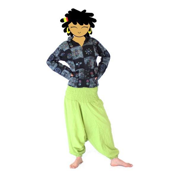mujer Pantalones Sarouel verde de manzana NkX8OZ0wPn