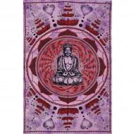 "Tenture Indienne ""Bouddha Lotus"" (tmm100)"