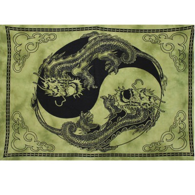 """Tenture Murale """"Yin et Yang - Dragons"""" (tmm113)"""