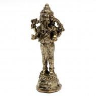 Statuette Ganesh - Mini Statuette Indienne artisanale (stabxs006)
