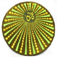 Ecusson Géant Soleil et Ôm jaune-vert (ecnep5R010)