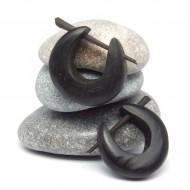 Boucles d'oreilles Indiennes en bois (bineb001)