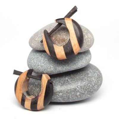 Boucles d'oreilles Indiennes en bois (bineb002)