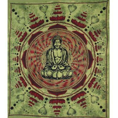 "Tenture Indienne ""Bouddha Lotus""(tgm096)"