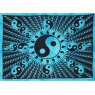 """Tenture Murale """"Yin et Yang"""" turquoise (tmm152)"""