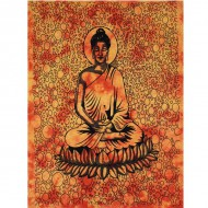 "Tenture Indienne""Bouddha"" orange (tmm153)"