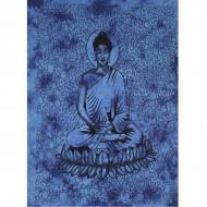 """Tenture Indienne""""Bouddha"""" bleue (tmm154)"""