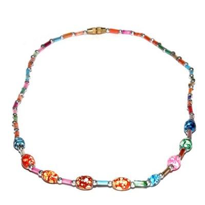 Collier Indien en perles de rocailles (pcolper06)