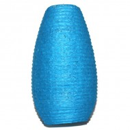 Lampion indien en papier bleu (lampip002)