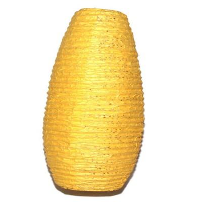 Lampion népalais en papier jaune (lampnp001)