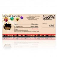 Chèque cadeau 45€ par email
