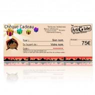 Chèque cadeau 75€ par email