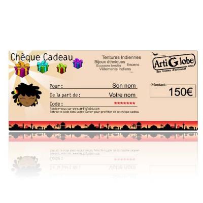 Chèque cadeau 150€ par email